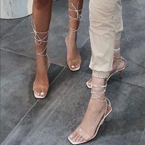 Zara white sandals